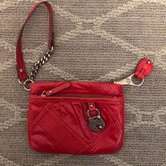 Juicy Couture Handbags - Red leather wristlet